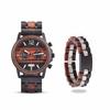 Coffret cadeau montre en bois Wapa et son bracelet (1)