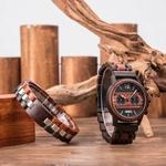 Coffret cadeau montre en bois Wapa et son bracelet (3)