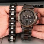 Coffret cadeau montre en bois ebene et son bracelet (6)