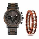 Coffret cadeau montre en bois ebene et son bracelet (3)