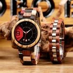 Coffret montre en bois Mélèze et son bracelet (3)
