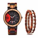 Coffret montre en bois Mélèze et son bracelet (4)