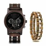 Coffret montre en bois sorbier et son bracelet (5)