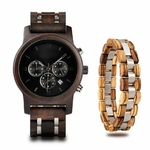 Coffret montre en bois sorbier et son bracelet (6)