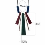 collier long et pendentif long en bois (2)
