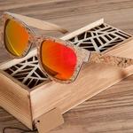 Lunettes en bois, polarisées Uv400 (6)