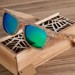 Lunettes en bois, polarisées Uv400 (2)