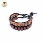 Bracelet cuir et bois débène (11)
