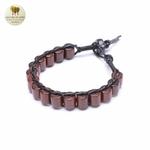 Bracelet cuir et bois débène (7)