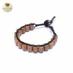 Bracelet cuir et bois débène (5)