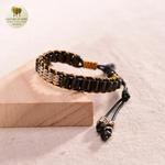 Bracelet en corde de cire et perle de bois (10)