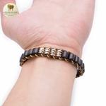 Bracelet en corde de cire et perle de bois (7)