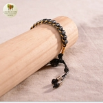 Bracelet en corde de cire et perle de bois (2)