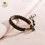 Bracelet en corde de cire et perle de bois (3)