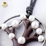 Collier long pendentif arbre de vie (3)