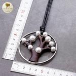 Collier long pendentif arbre de vie (4)