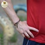 Bracelet cuir et bois aile (2)