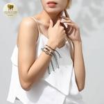 Bracelet trio perle de bois