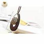 Collier long et pendentif bois de santal goutte deau (5)
