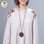 Collier long et pendentif bois hibou (5)