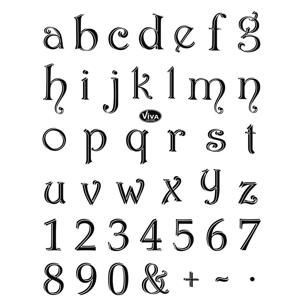 Tampons silicone alphabet et chiffres