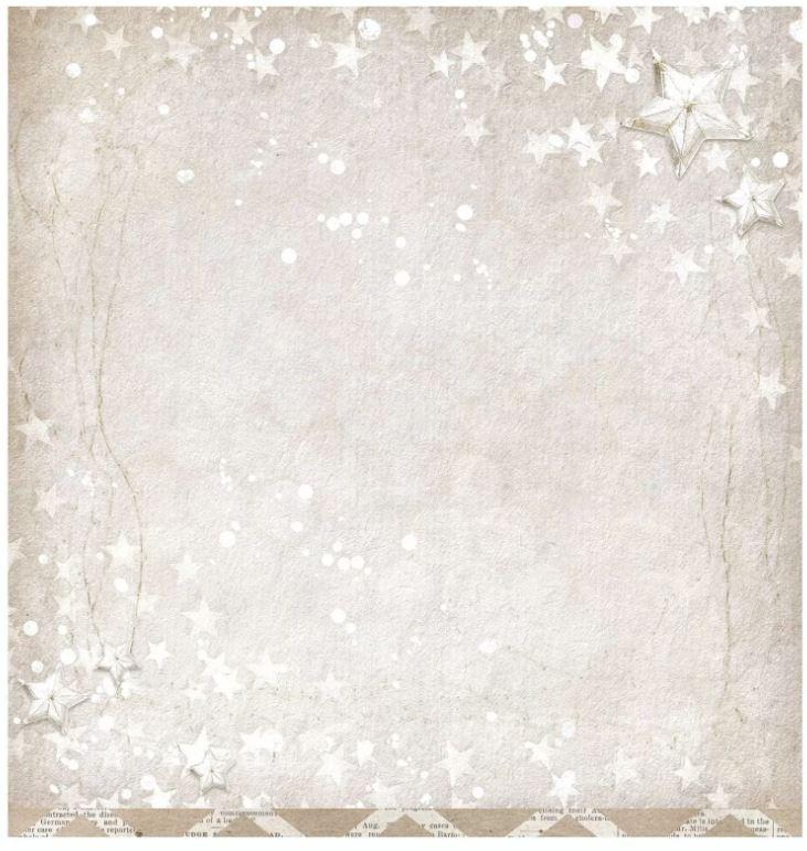 Planche de papier 200g/m2 thème Hiver Recto Verso - 30.5x30.5 cms - vendue à l\'unité