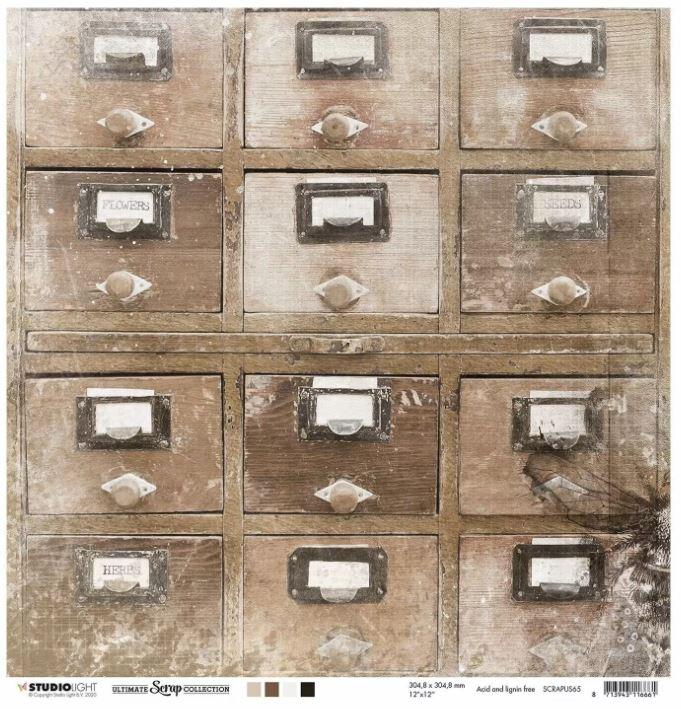 Planche de papier 200 g/m2 thème vintage Recto Verso - 30.5 x 30.5 cms - vendue à l\'unité