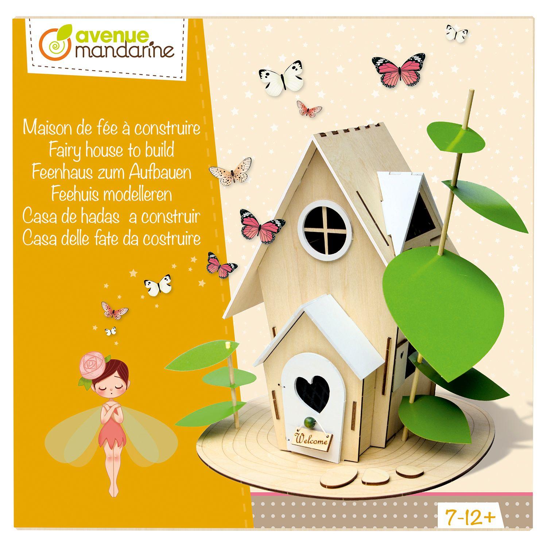 Boîte créative Maison de fées à construire - 6/10 ans