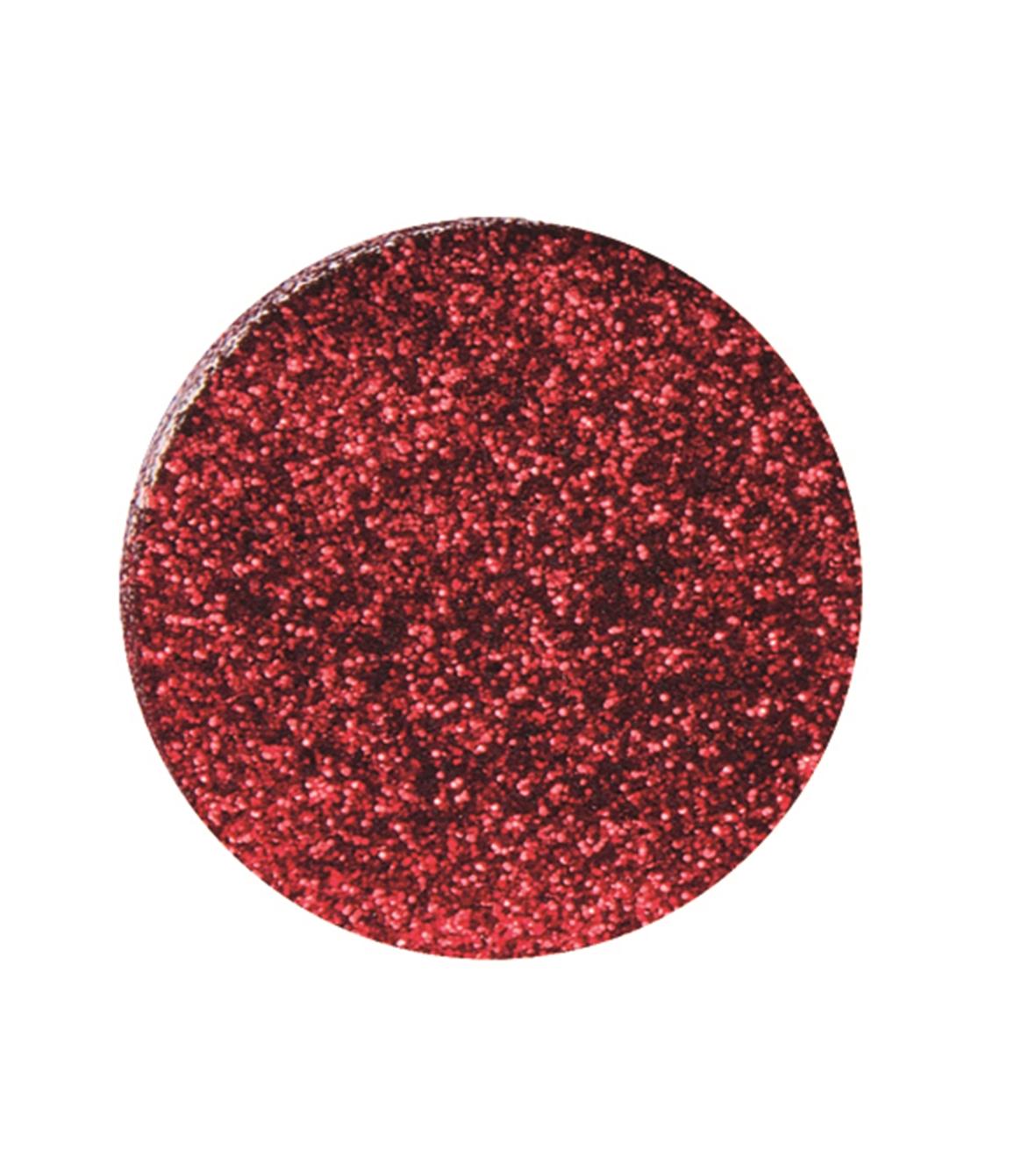 Boîte de 10g de paillettes ultra fines en polyester - Coloris rouge