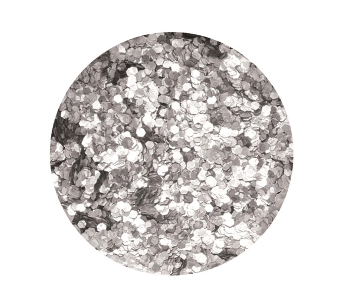 Boîte de 9 g de paillettes d\'environ 1 mm de diamètre - Coloris argent