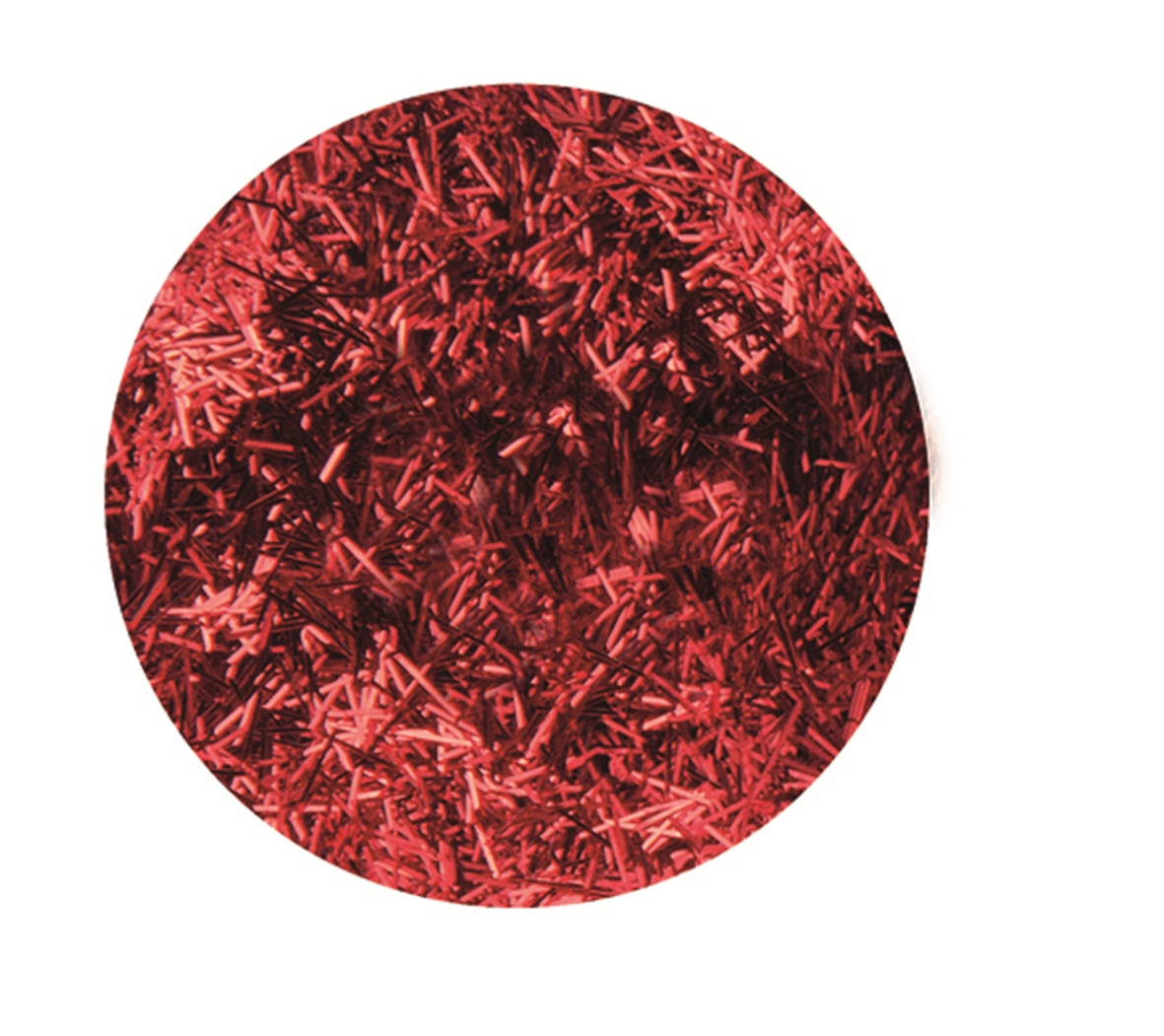 Boîte de 4.5 g de paillettes cheveux d\'ange - Coloris rouge