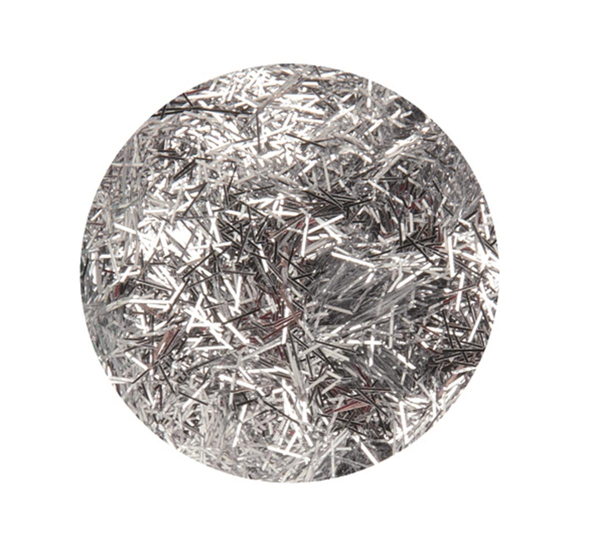 Boîte de 4.5 g de paillettes cheveux d\'ange - Coloris argent