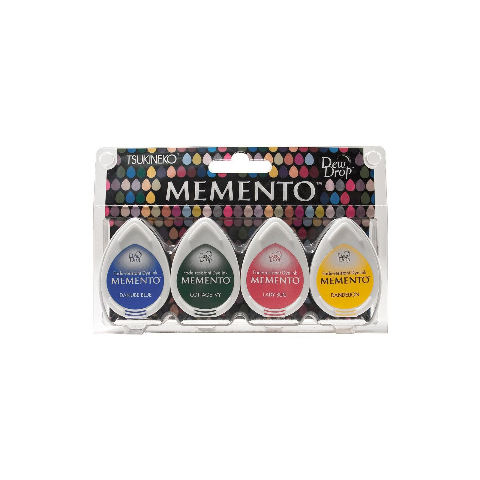 Memento Dew Drops - Lot 4 Tampons encreurs - Coloris Prime Time