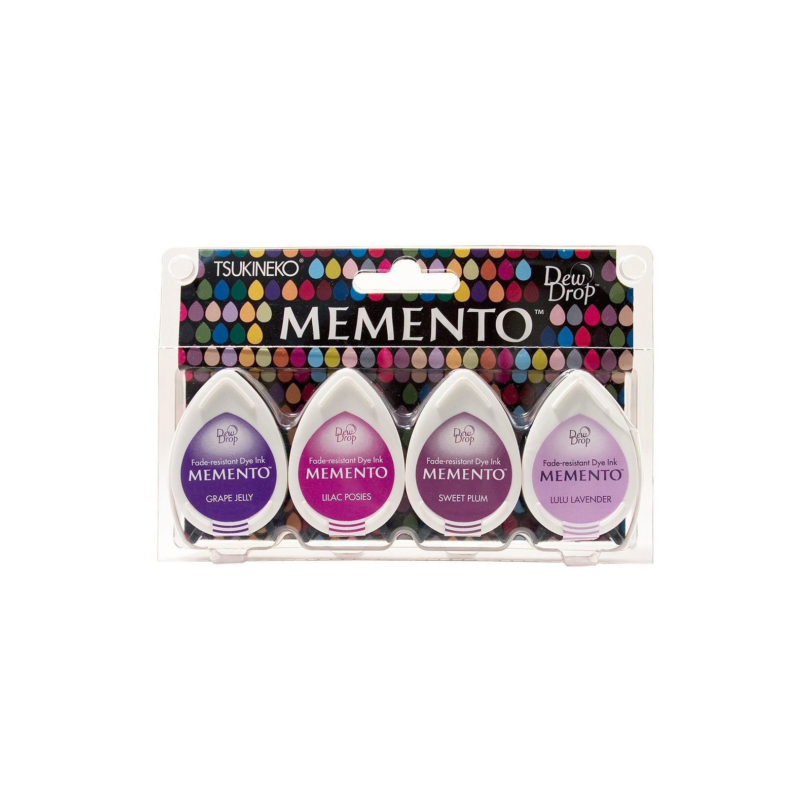 Memento Dew Drops - Lot 4 Tampons encreurs - Coloris Juicy Purples