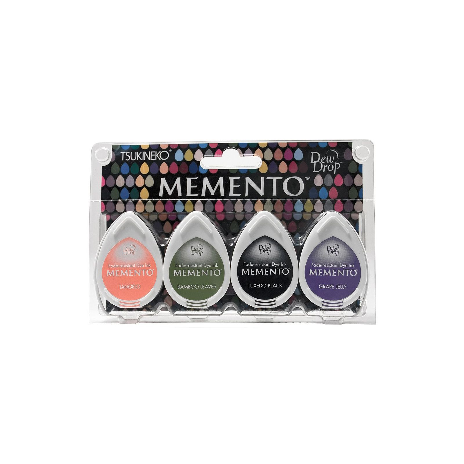 Memento Dew Drops - Lot 4 Tampons encreurs - Coloris Jelly Beans
