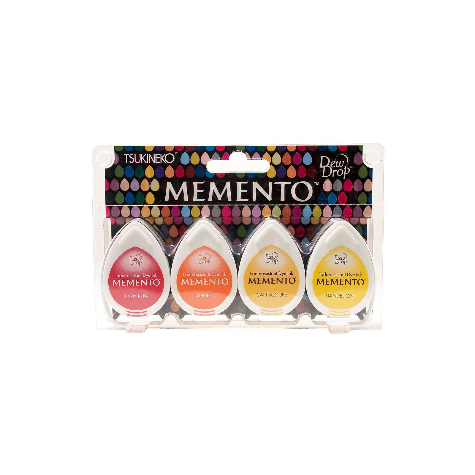 Memento Dew Drops - Lot 4 Tampons encreurs - Coloris Camp Fire
