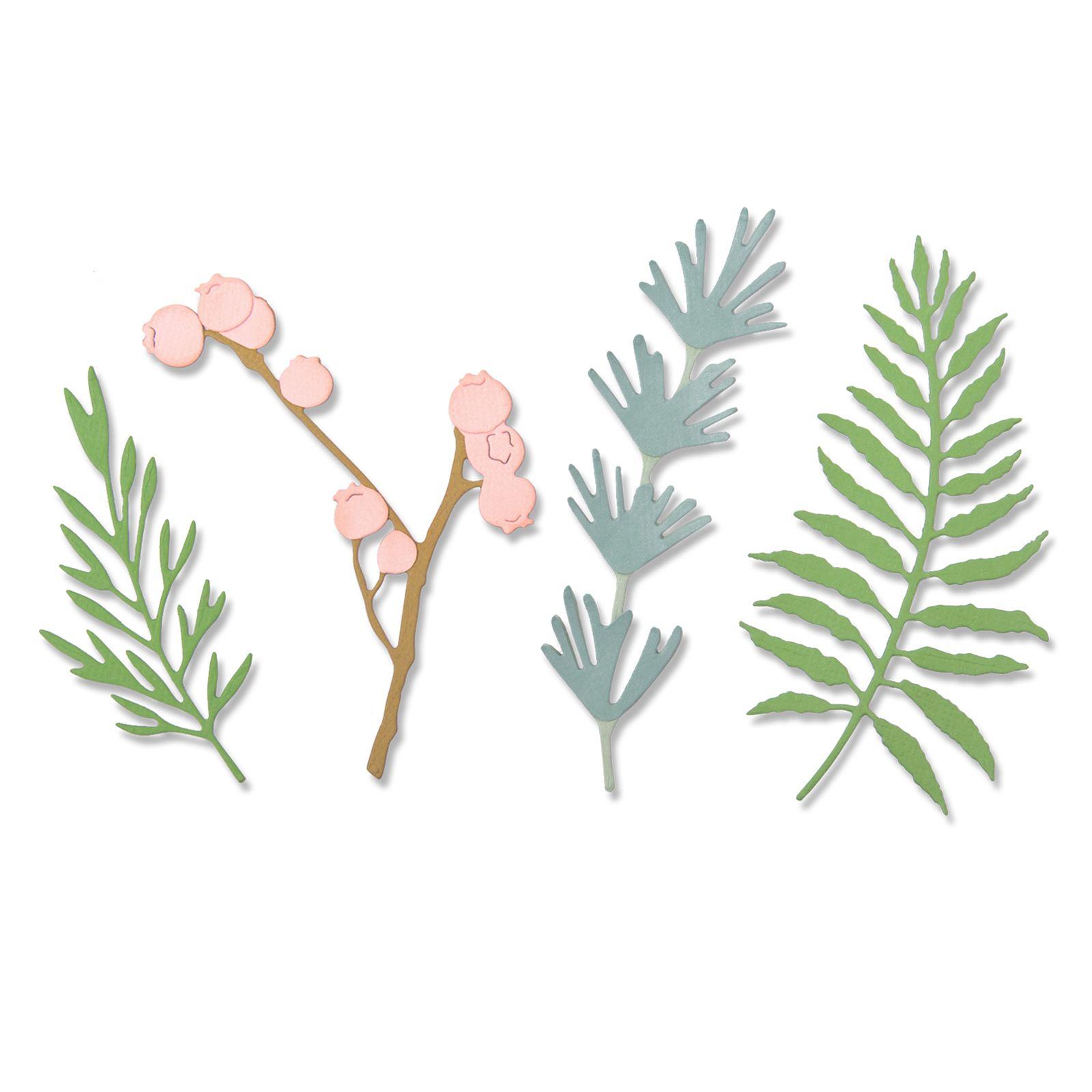 5 matrices de découpe Feuilles Naturelles