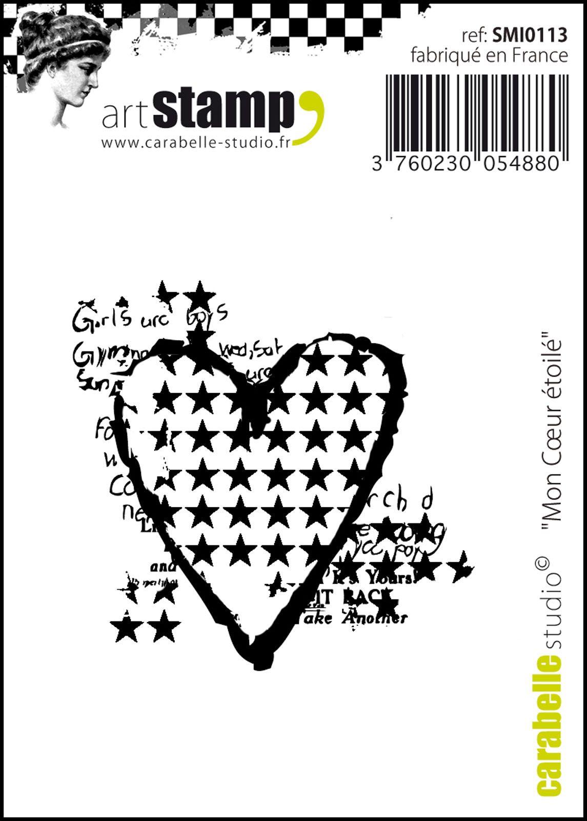 Tampon cling Coeur Etoilé