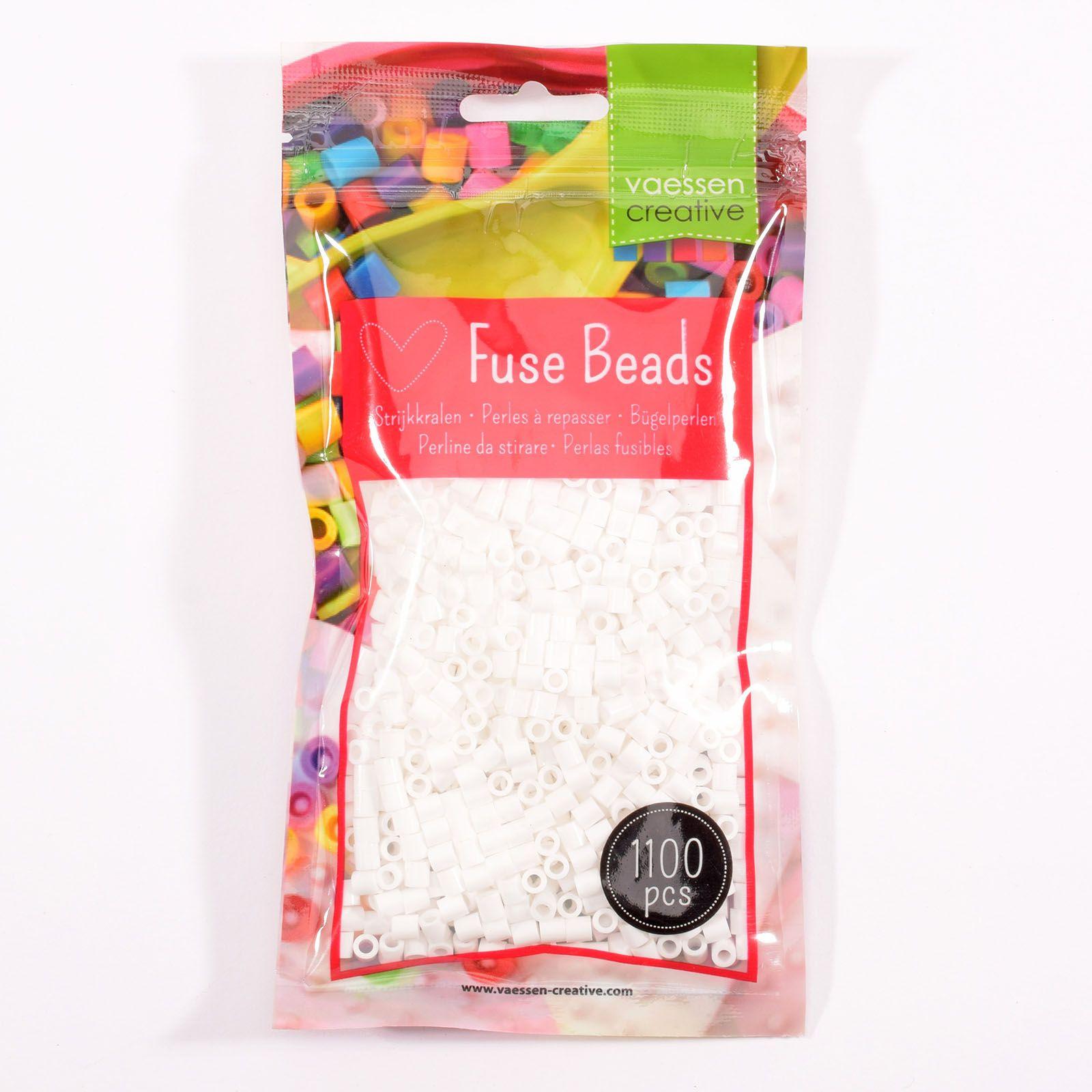 Sachet de 1100 perles à repasser - Ø 5 mm coloris blanc