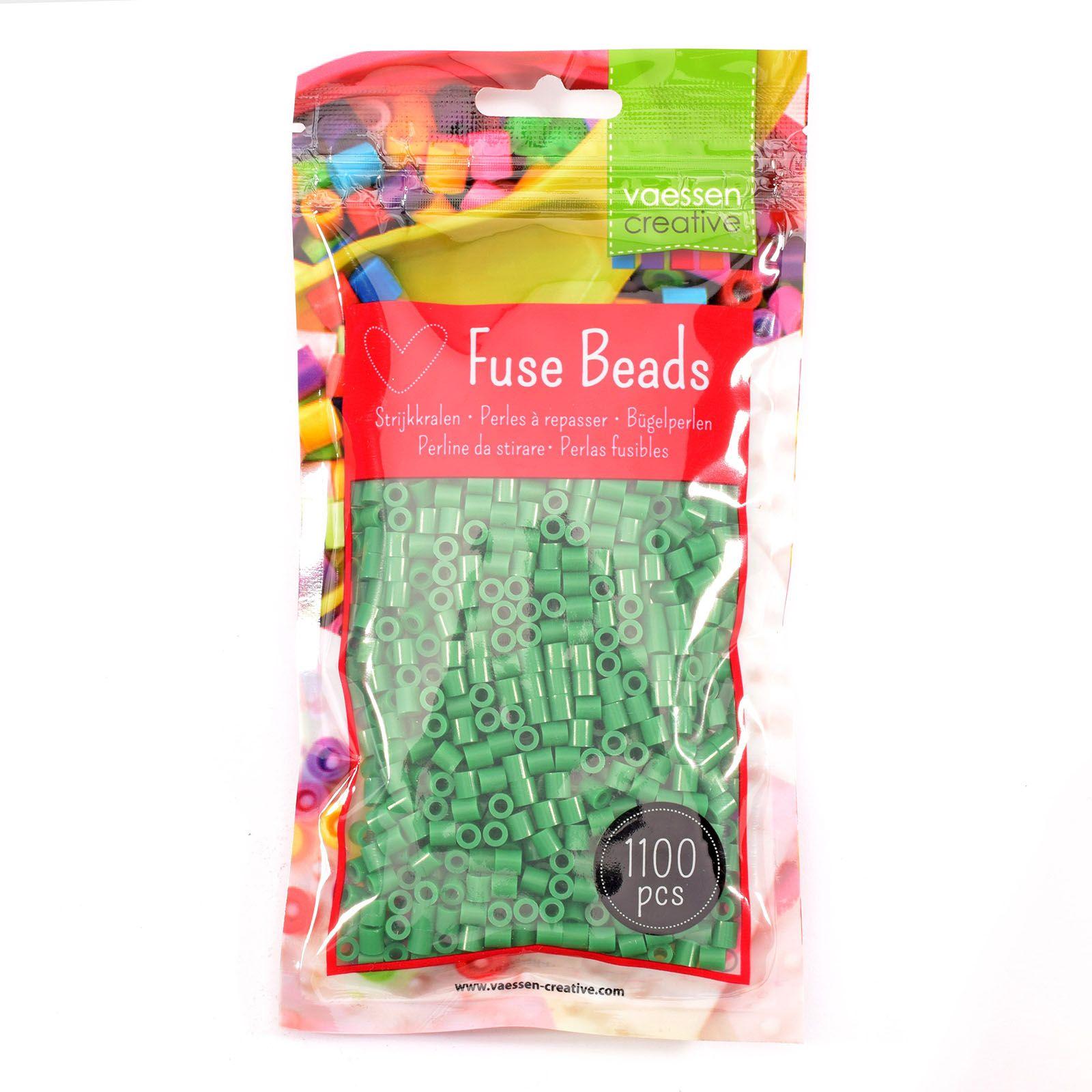 Sachet de 1100 perles à repasser - Ø 5 mm Coloris vert