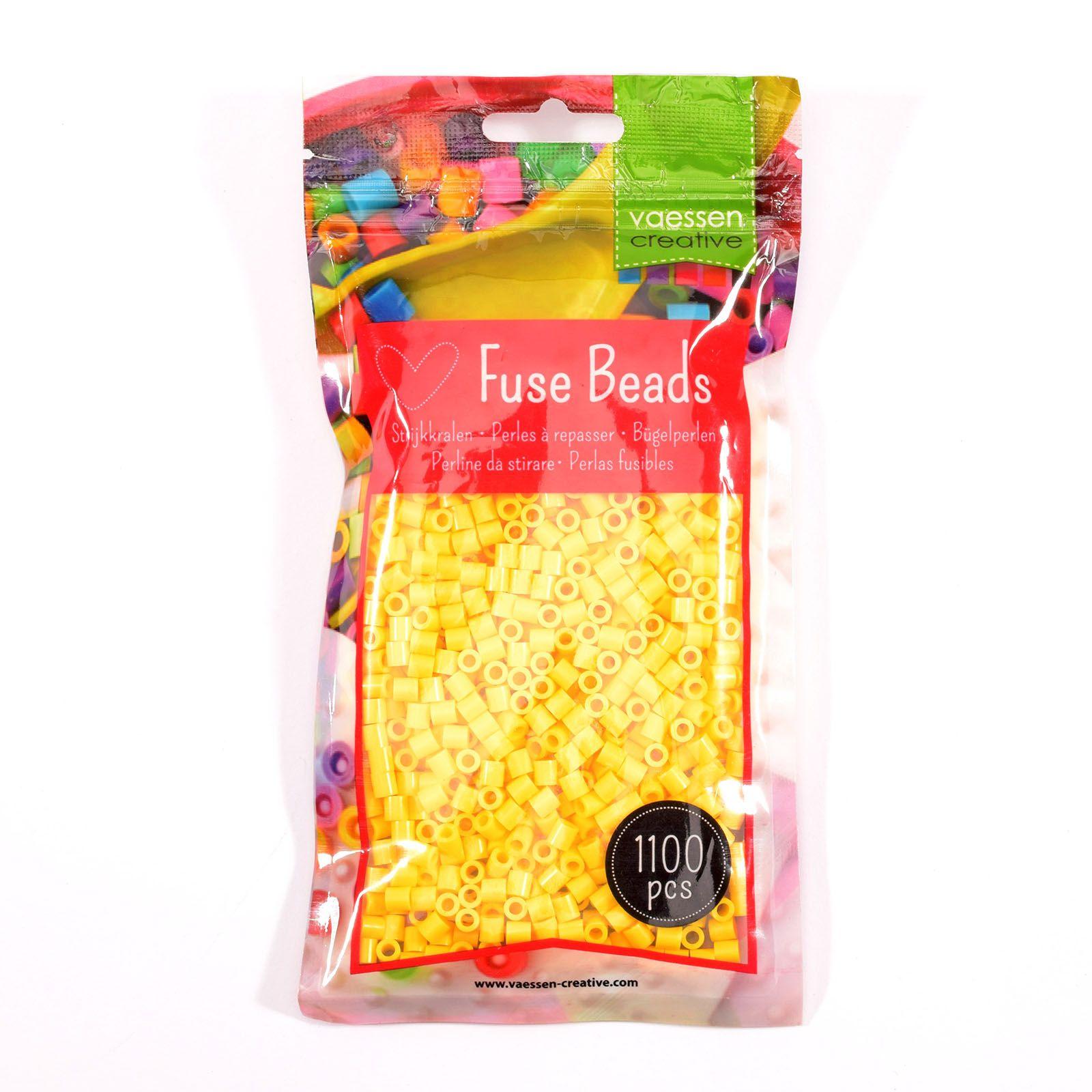 Sachet de 1100 perles à repasser - Ø5 mm Coloris jaune