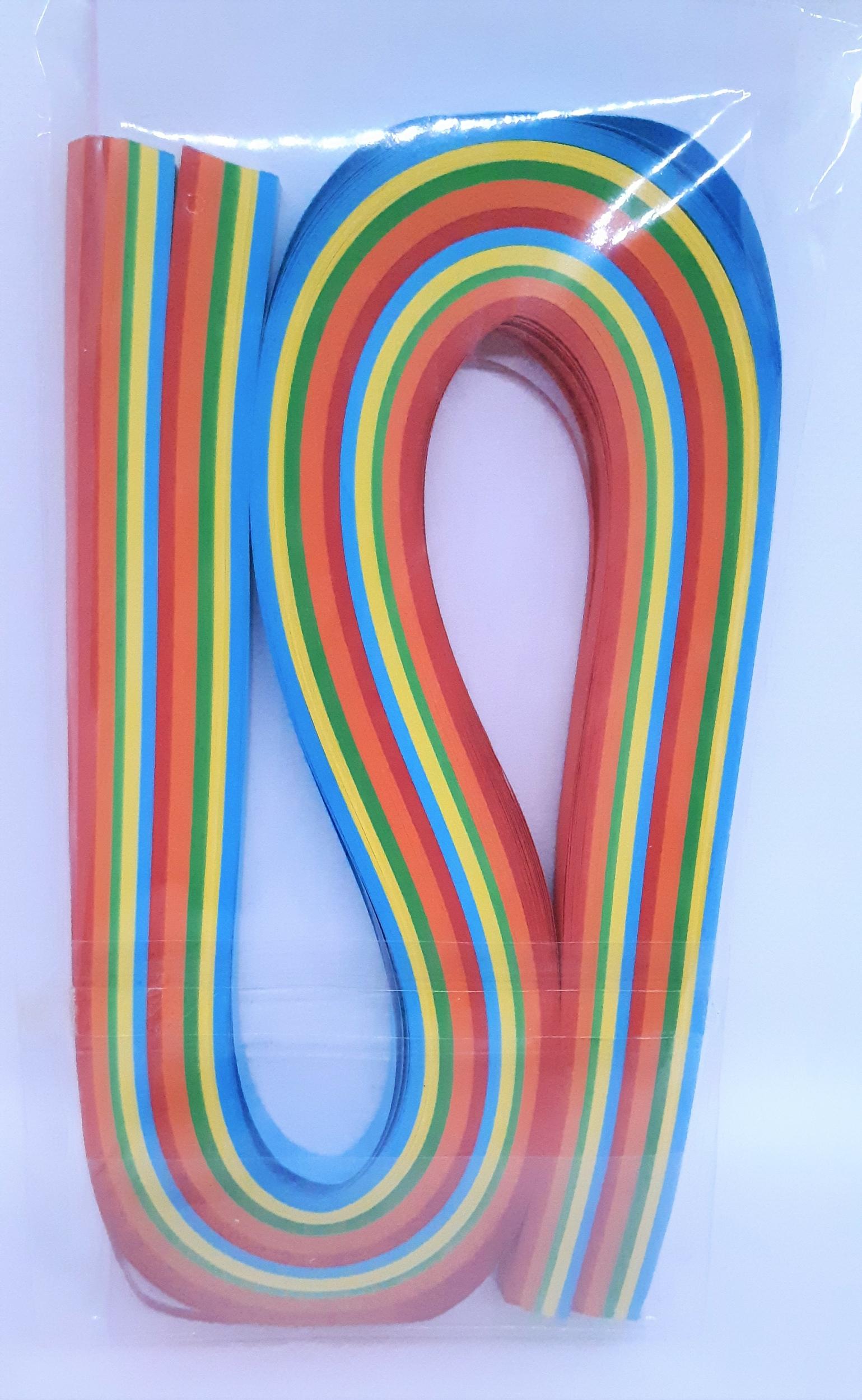 300 Bandelettes de papier pour quilling - coloris assortis