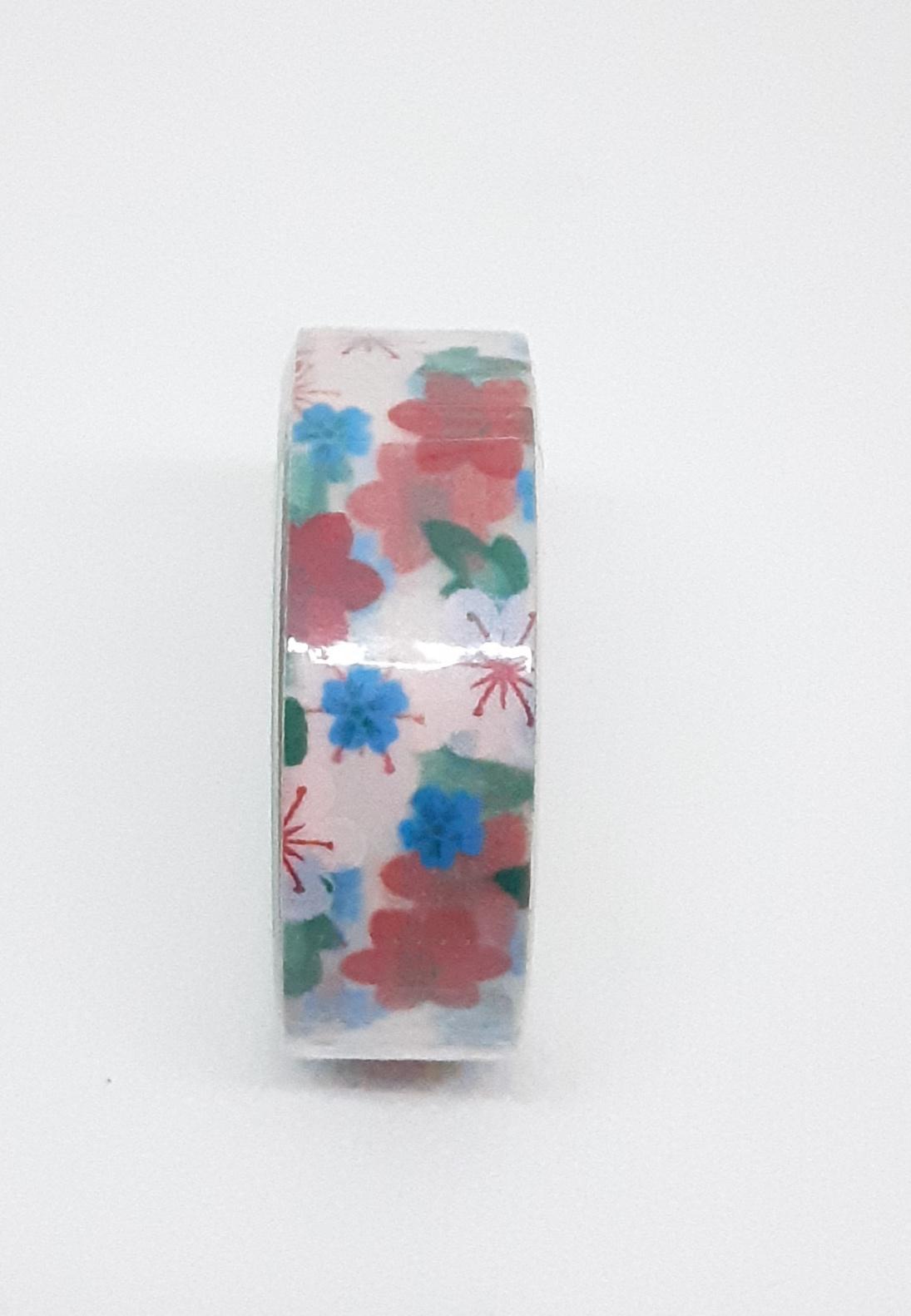 Adhésif de masquage en papier de riz - Fleurs colorées