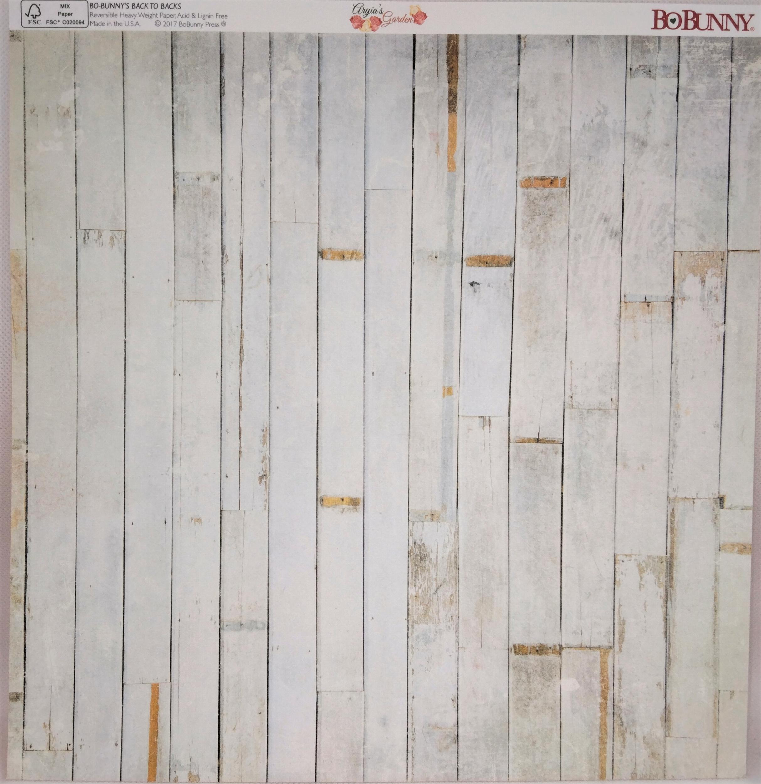 Planche double face 30.5 x 30.5 cms -160 g/m2 - Collection Aryia\'s Garden - Petals