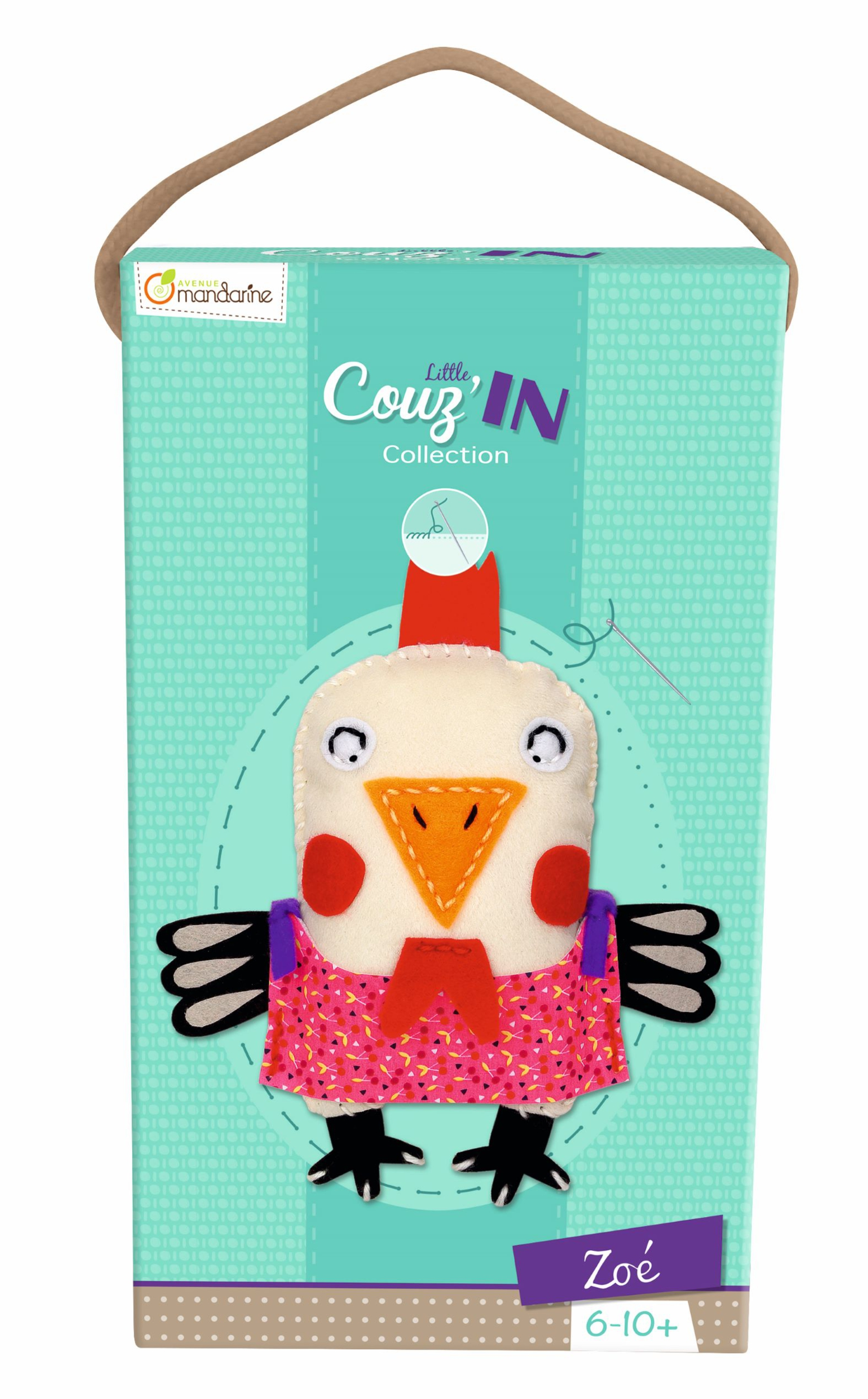 Kit feutrine Little Couz\'In - Zoé la Poule