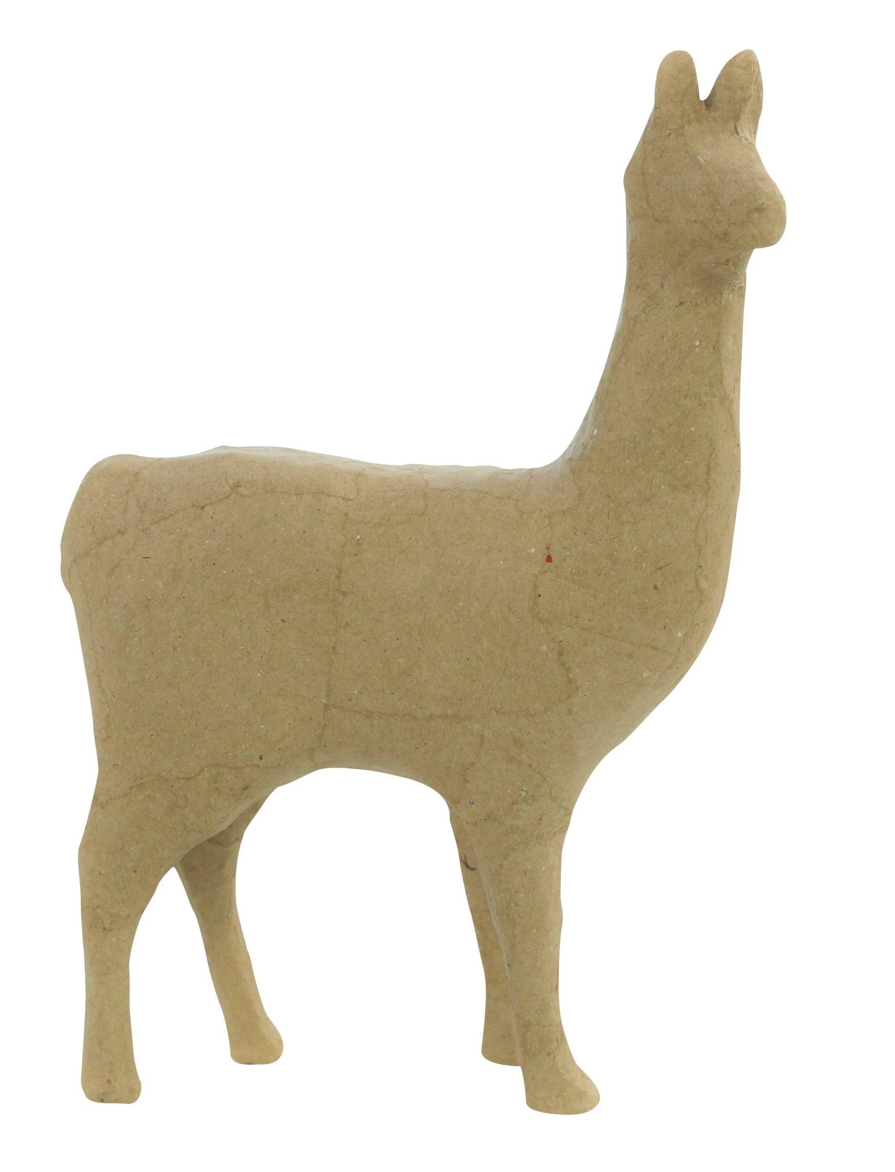 Lama - support en papier mâché