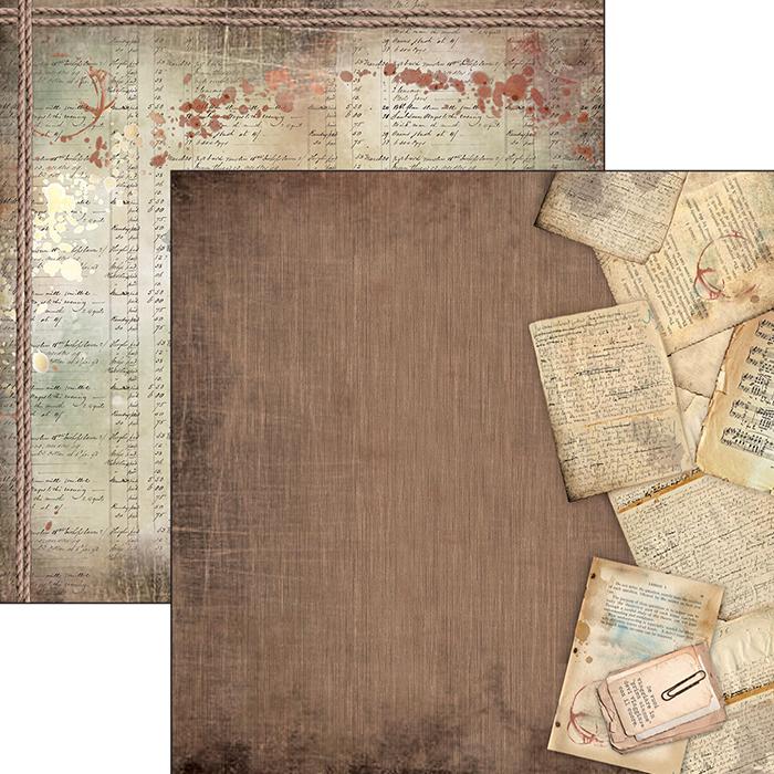 Planche de papier à motifs imprimée recto-verso - 30.5 x 30.5 cms