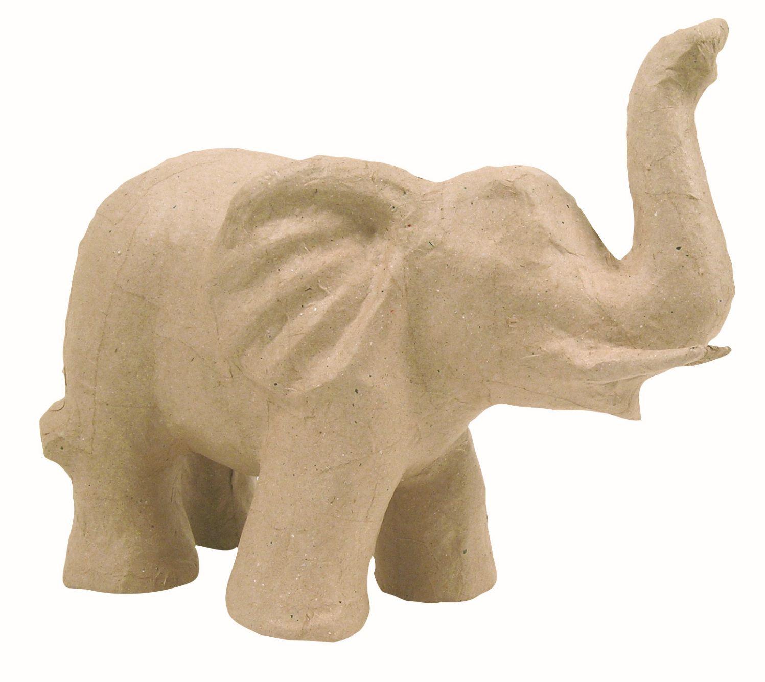 Eléphant - Support en papier mâché