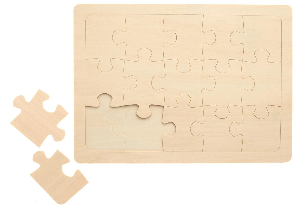 Puzzle en bois à peindre