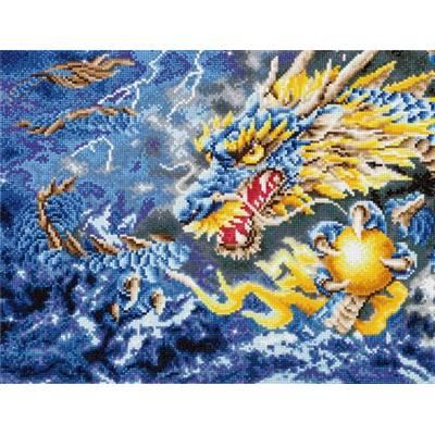Broderie Diamants - Dragon mythique - à recouvrir entièrement - Niveau Confirmé